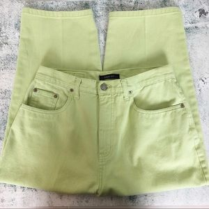 Bill Blass Green High Rise Capri Jeans - Size 10
